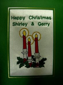 PERSONALISED 3 CANDLES CHRISTMAS CARD